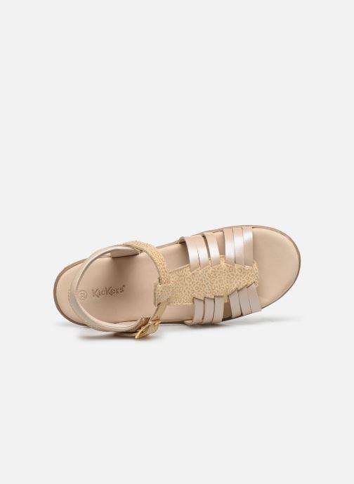 Sandales et nu-pieds Kickers Verybest Or et bronze vue gauche