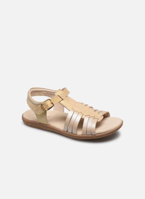 Sandales et nu-pieds Kickers Verybest Or et bronze vue détail/paire