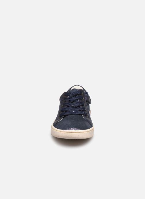 Baskets Kickers Lykool Bleu vue portées chaussures