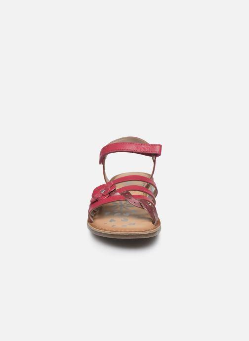 Sandales et nu-pieds Kickers Dianni Rose vue portées chaussures