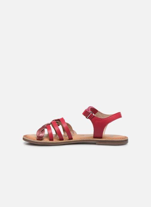 Sandales et nu-pieds Kickers Dianni Rose vue face