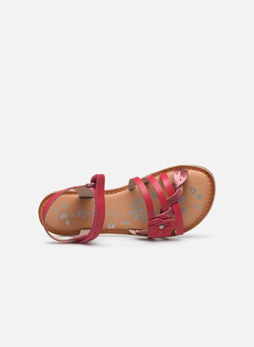 Sandales et nu-pieds Kickers Dianni Rose vue gauche