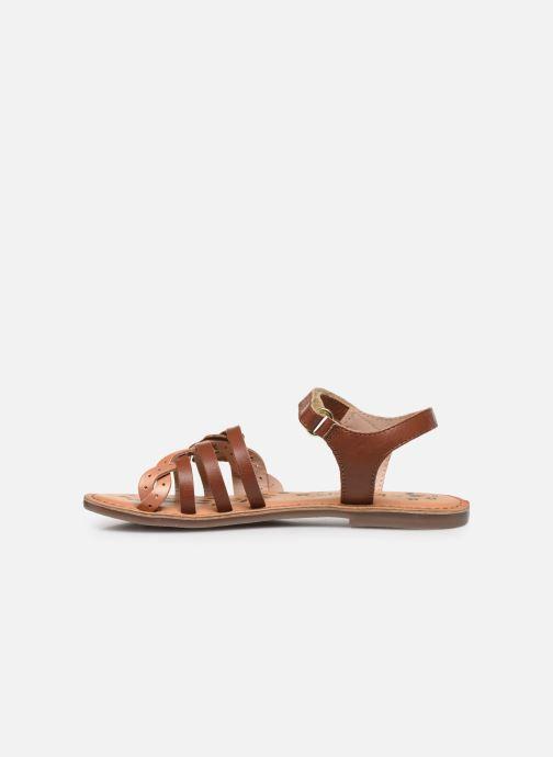 Sandales et nu-pieds Kickers Dianni Marron vue face
