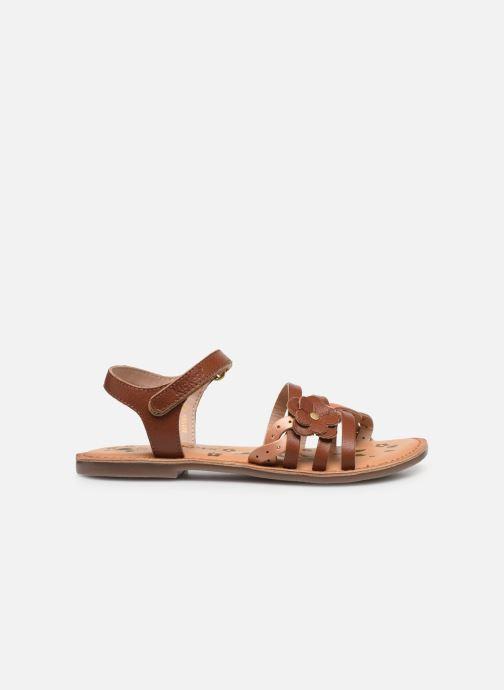 Sandales et nu-pieds Kickers Dianni Marron vue derrière