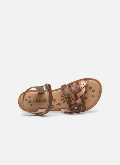 Sandales et nu-pieds Kickers Dianni Marron vue gauche