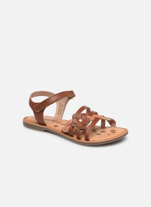 Sandales et nu-pieds Kickers Dianni Marron vue détail/paire
