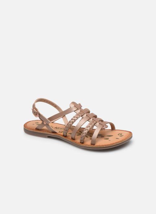 Sandales et nu-pieds Kickers Distrez Rose vue détail/paire