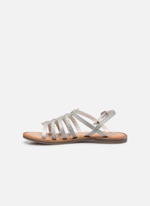 Sandalen Kickers Distrez silber ansicht von vorne