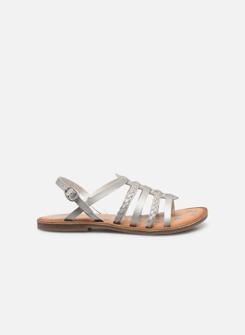 Sandalen Kickers Distrez silber ansicht von hinten