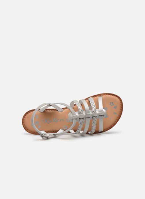 Sandalen Kickers Distrez silber ansicht von links