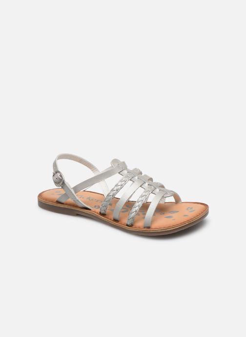 Sandales et nu-pieds Kickers Distrez Argent vue détail/paire