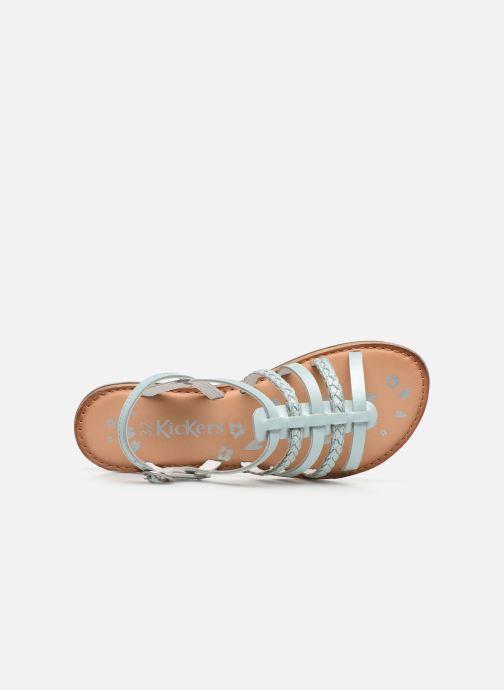 Sandales et nu-pieds Kickers Distrez Bleu vue gauche