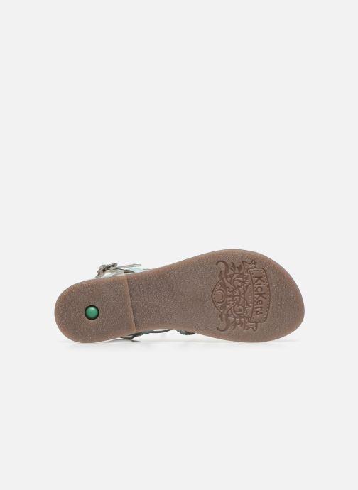 Sandales et nu-pieds Kickers Distrez Bleu vue haut