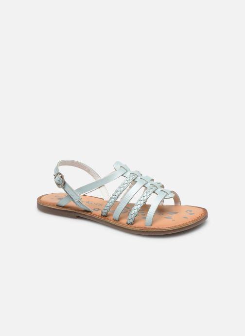 Sandales et nu-pieds Kickers Distrez Bleu vue détail/paire