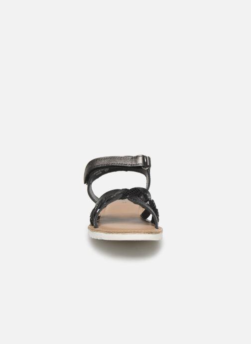 Sandales et nu-pieds Kickers Sharkky Noir vue portées chaussures
