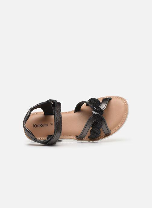 Sandales et nu-pieds Kickers Sharkky Noir vue gauche