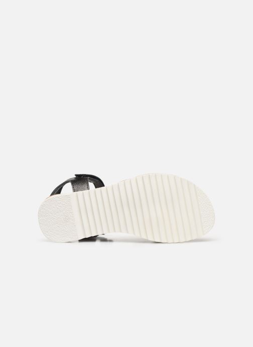 Sandales et nu-pieds Kickers Sharkky Noir vue haut