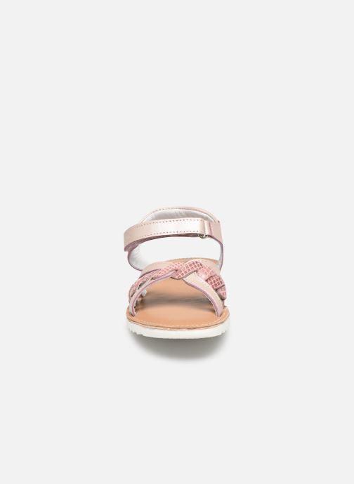 Sandales et nu-pieds Kickers Sharkky Rose vue portées chaussures