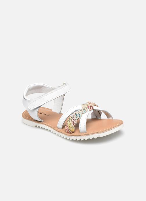 Sandales et nu-pieds Kickers Sharkky Blanc vue détail/paire