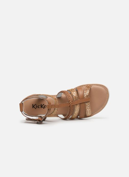 Sandales et nu-pieds Kickers Shastyl Marron vue gauche