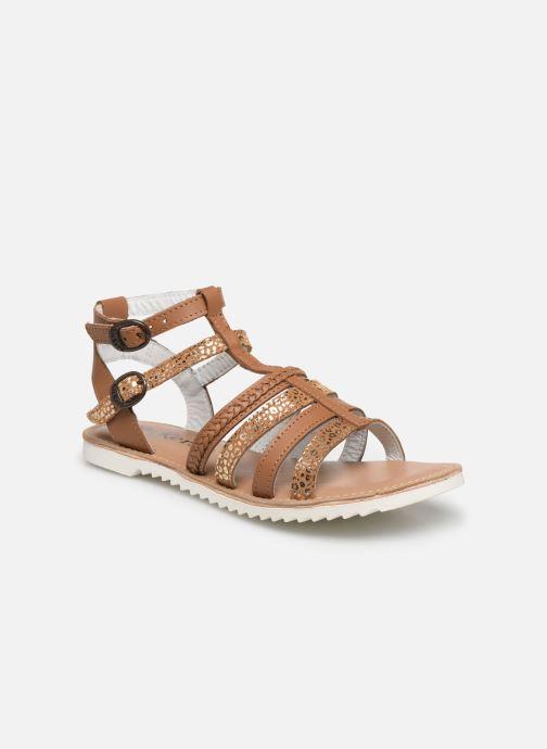 Sandales et nu-pieds Kickers Shastyl Marron vue détail/paire