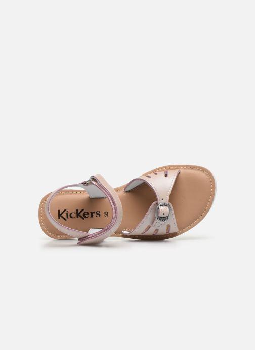 Sandales et nu-pieds Kickers Shaflyn Rose vue gauche