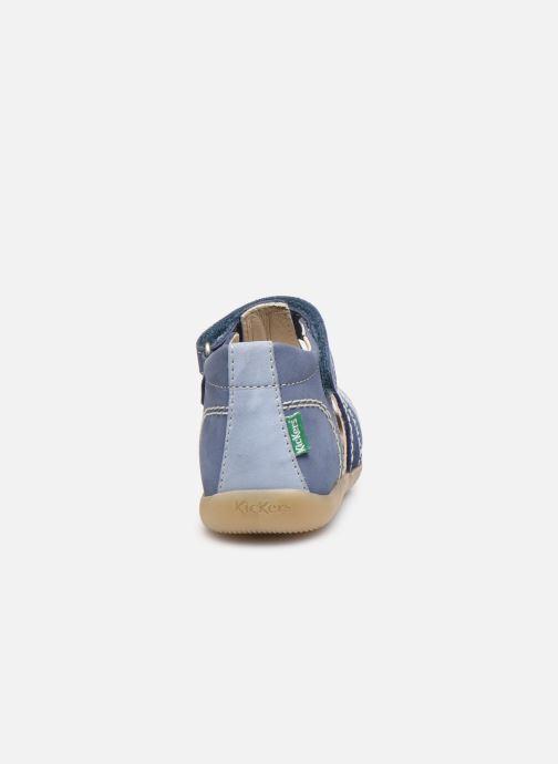 Sandalen Kickers Bigbazar-2 blau ansicht von rechts