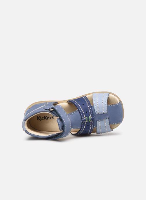 Sandalen Kickers Bigbazar-2 blau ansicht von links