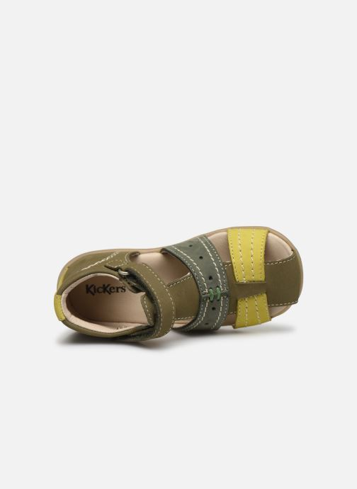 Sandales et nu-pieds Kickers Bigbazar-2 Vert vue gauche