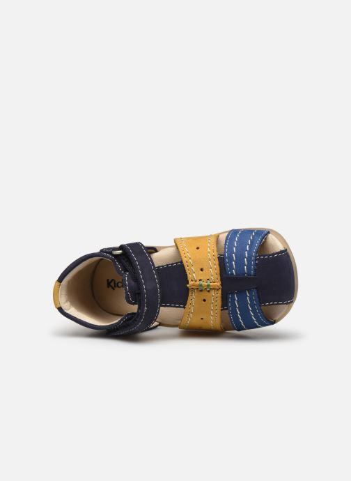 Sandalias Kickers Bigbazar-2 Azul vista lateral izquierda