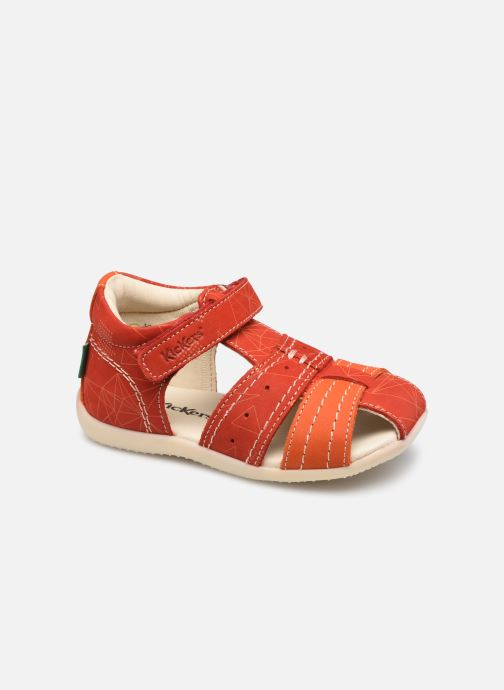 Sandalen Kickers Bigbazar-2 rot detaillierte ansicht/modell