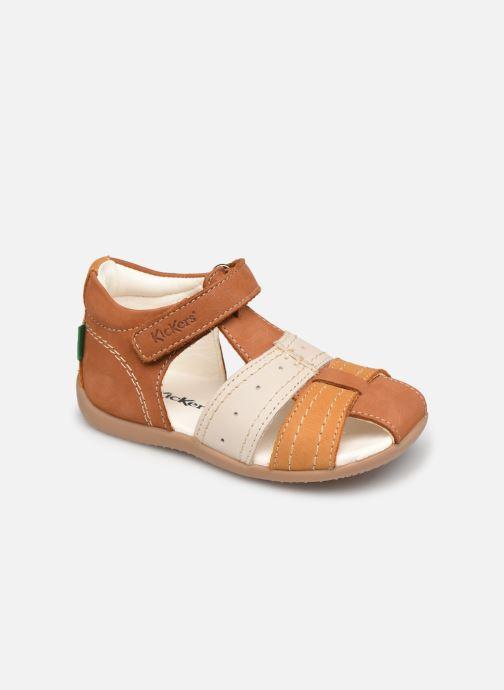 Sandales et nu-pieds Kickers Bigbazar-2 Marron vue détail/paire