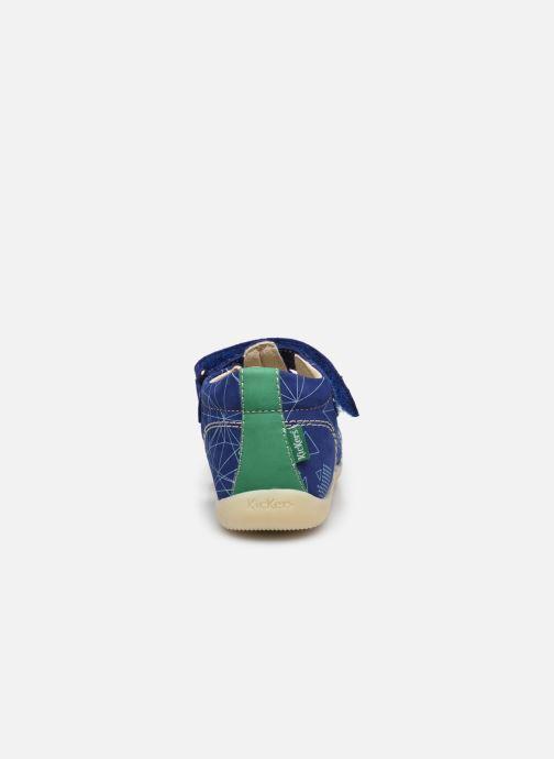Sandalen Kickers Bigbazar-2 Blauw rechts
