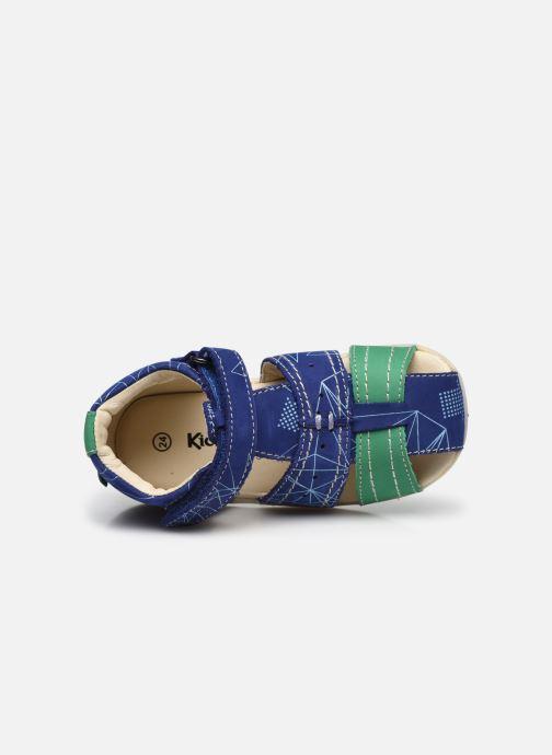 Sandalen Kickers Bigbazar-2 Blauw links
