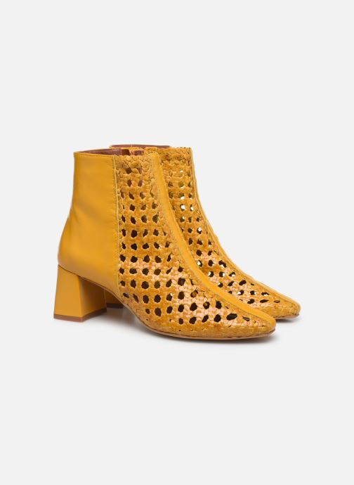 Ankle boots Made by SARENZA Riviera Couture Boots #1 Yellow back view