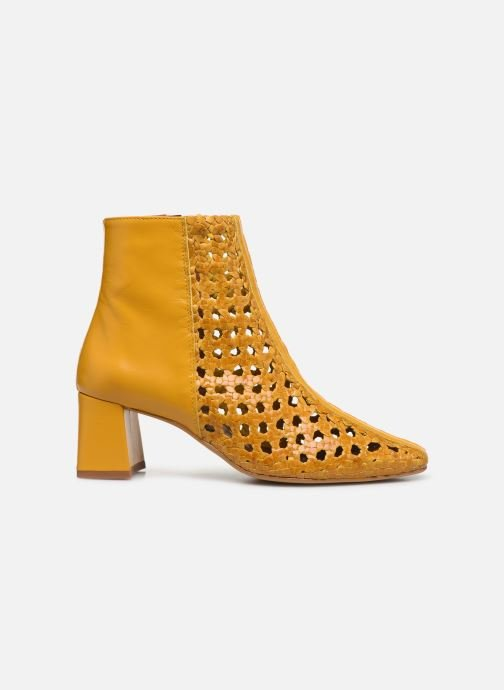 Ankle boots Made by SARENZA Riviera Couture Boots #1 Yellow detailed view/ Pair view