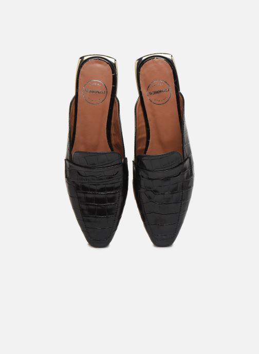Slipper Made by SARENZA South Village Mocassin #1 schwarz schuhe getragen