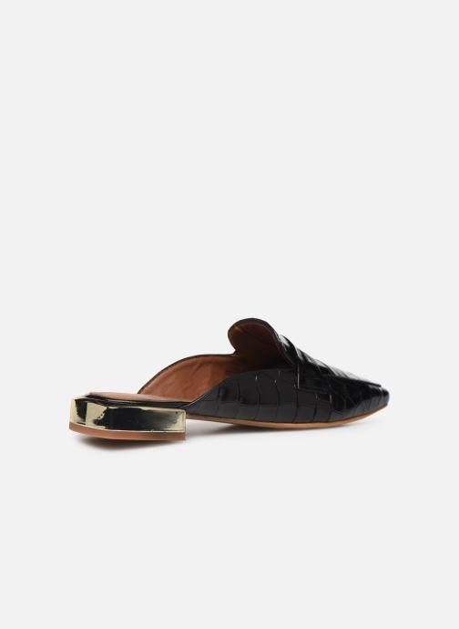 Slipper Made by SARENZA South Village Mocassin #1 schwarz ansicht von vorne