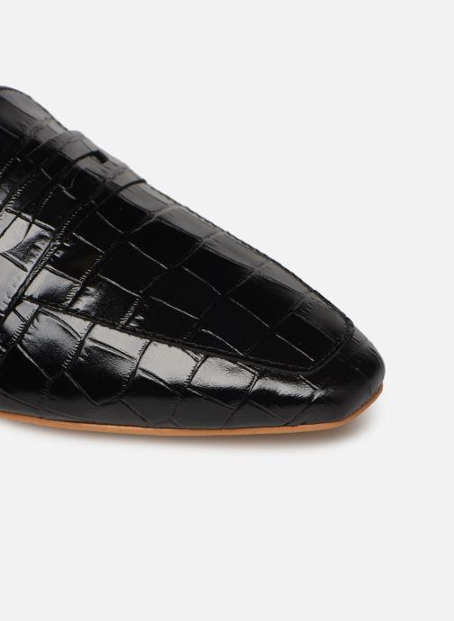 Slipper Made by SARENZA South Village Mocassin #1 schwarz ansicht von links