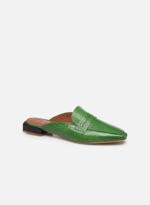 Loafers Made by SARENZA South Village Mocassin #1 Green view from the right