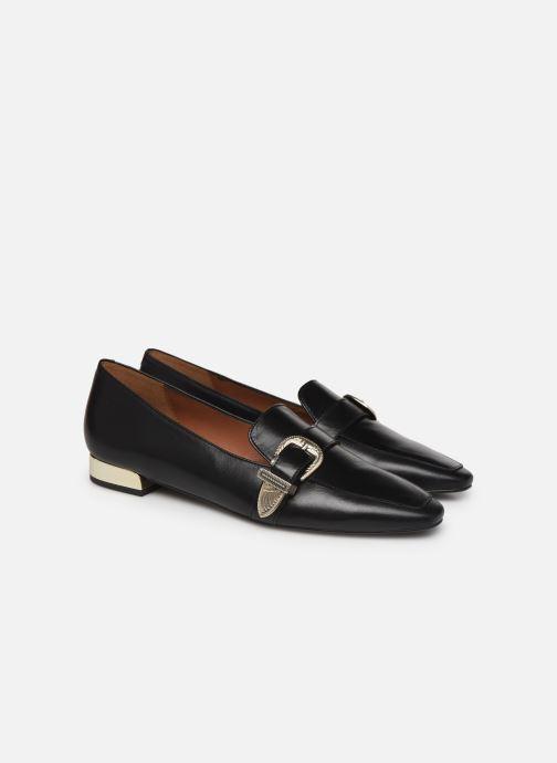 Loafers Made by SARENZA Summer Folk Mocassins #1 Black back view