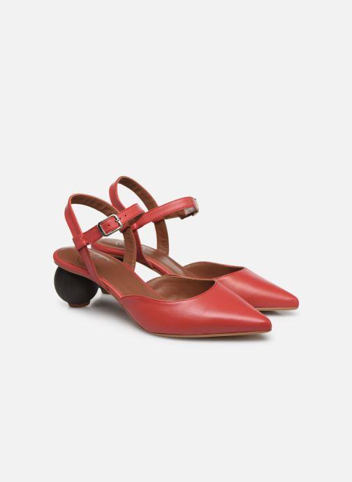 Pumps Made by SARENZA Riviera Couture Escarpin #5 rot ansicht von hinten