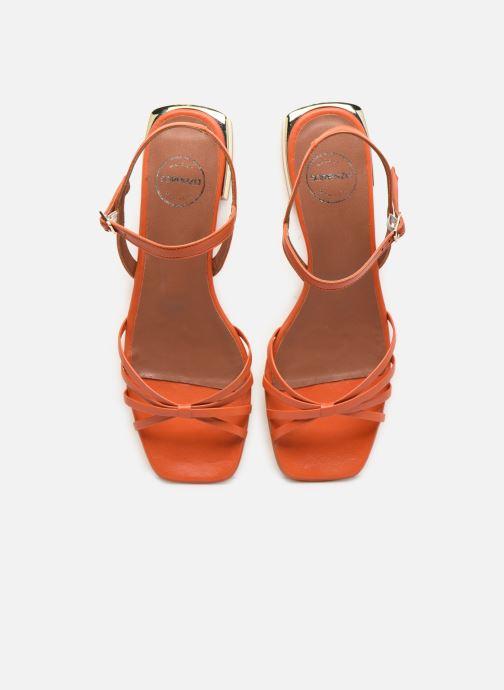 Sandales et nu-pieds Made by SARENZA Riviera Couture Sandales Plates #1 Orange vue portées chaussures