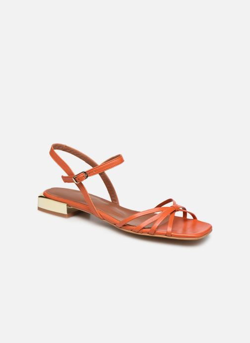 Sandales et nu-pieds Made by SARENZA Riviera Couture Sandales Plates #1 Orange vue droite