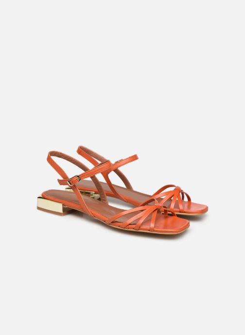 Sandales et nu-pieds Made by SARENZA Riviera Couture Sandales Plates #1 Orange vue derrière