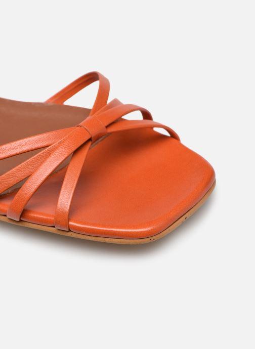 Sandales et nu-pieds Made by SARENZA Riviera Couture Sandales Plates #1 Orange vue gauche