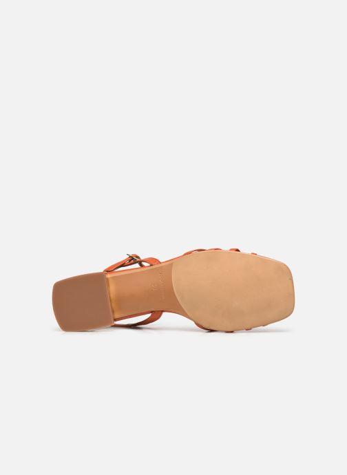 Sandales et nu-pieds Made by SARENZA Riviera Couture Sandales Plates #1 Orange vue haut