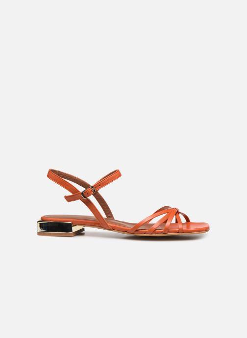 Sandales et nu-pieds Made by SARENZA Riviera Couture Sandales Plates #1 Orange vue détail/paire