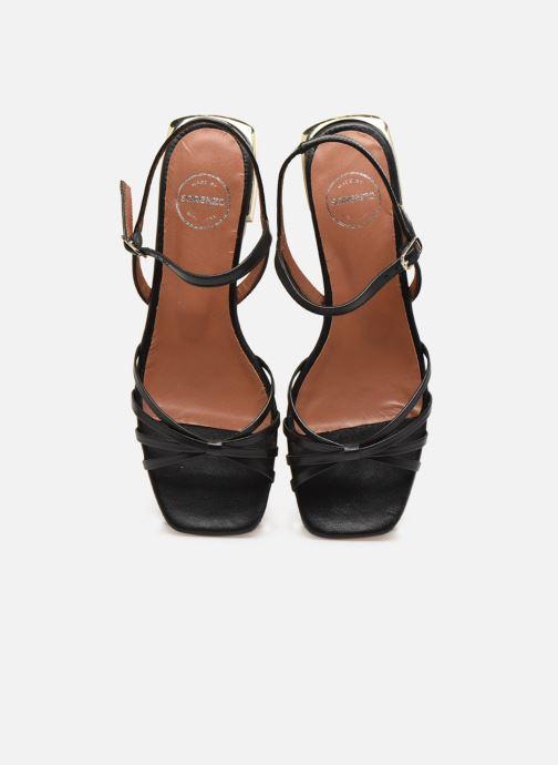 Sandali e scarpe aperte Made by SARENZA Riviera Couture Sandales Plates #1 Nero modello indossato