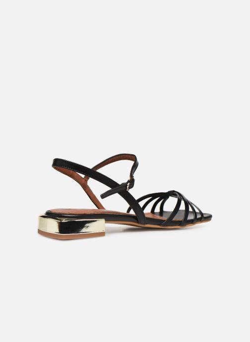 Sandali e scarpe aperte Made by SARENZA Riviera Couture Sandales Plates #1 Nero immagine frontale